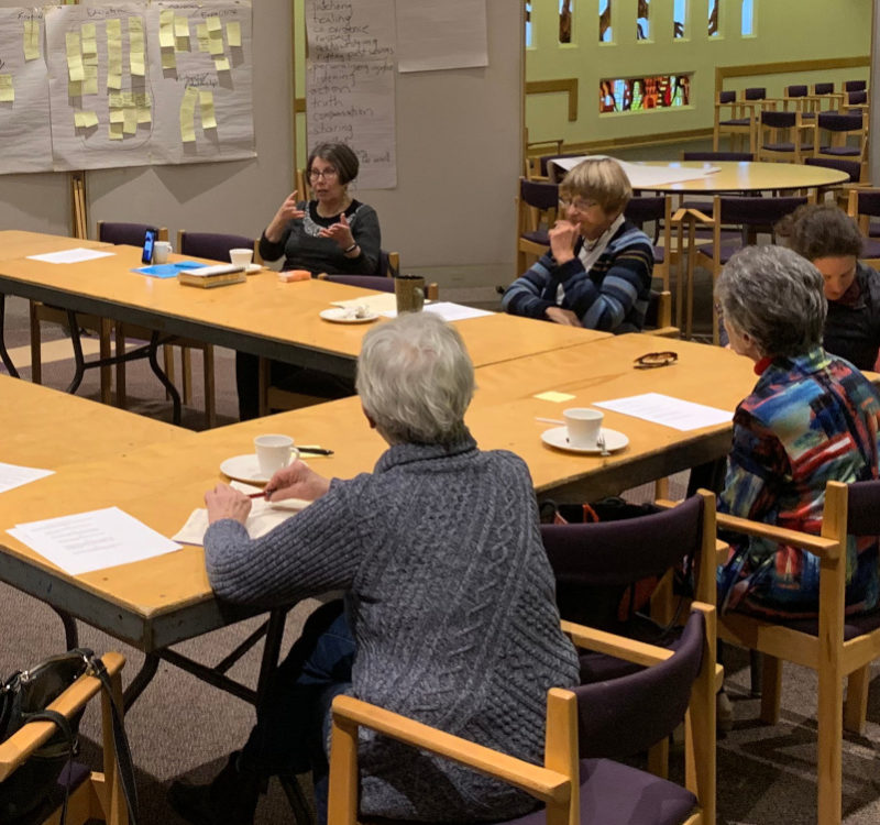 Volunteer on a committee at Temple Israel