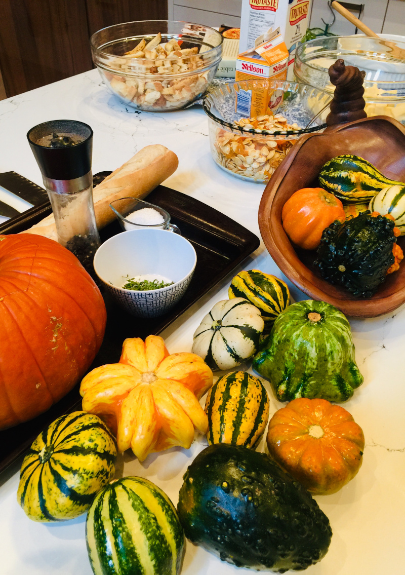 Pumpkin dish ingredients